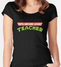 Super Awesome Science Teacher TMNT Parody Women's Fitted Scoop T-Shirt