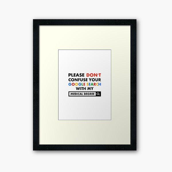 Medical Degree Framed Art Print