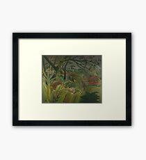 Henri Rousseau - Surprised Framed Print