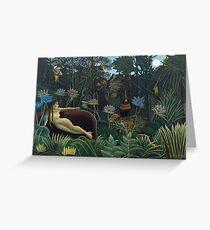 Henri Rousseau - The Dream Greeting Card
