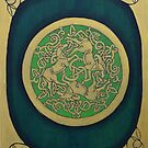 Celtic Horse Triskelle Painting  by Toradellin