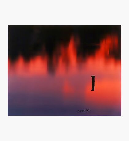 Sunset Reflected in a Pond Photographic Print
