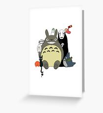 Studio Ghibli: Totoro, Jiji, Calcifer, Forest Spirit, Ponyo, Rat, Fly, Soot Sprite (customisable) Greeting Card