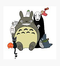 Studio Ghibli: Totoro, Jiji, Calcifer, Forest Spirit, Ponyo, Rat, Fly, Soot Sprite (customisable) Photographic Print