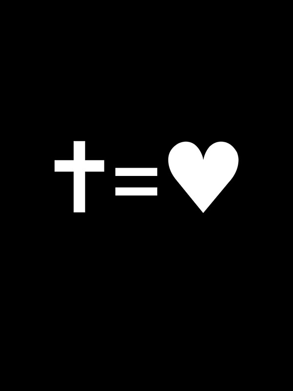 """""""Cross Equals Heart"""" Greeting Cards by Cilionelle 