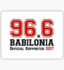 Supports Radio Babilonia 96.6 Sticker