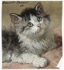 Henriette Ronner Knip - An Inquisitive Kitten 1893 Poster