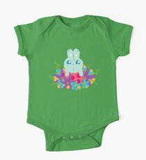 Easter bunny in flowers One Piece - Short Sleeve