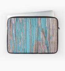 Shabby rustic weathered wood turquoise Laptop Sleeve
