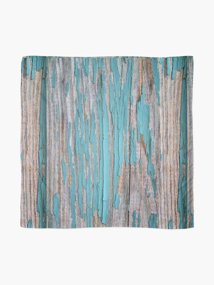 Alternate view of Shabby rustic weathered wood turquoise Scarf