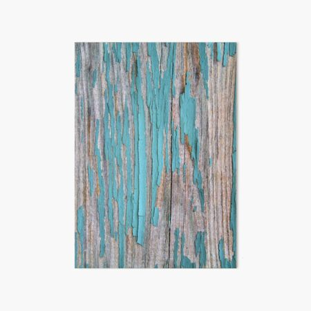 Shabby rustic weathered wood turquoise Art Board Print