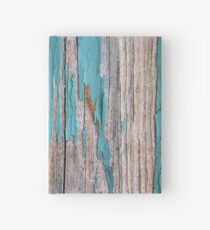 Shabby rustic weathered wood turquoise Hardcover Journal