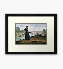 Henry Bacon - Lady In A Boat Framed Print