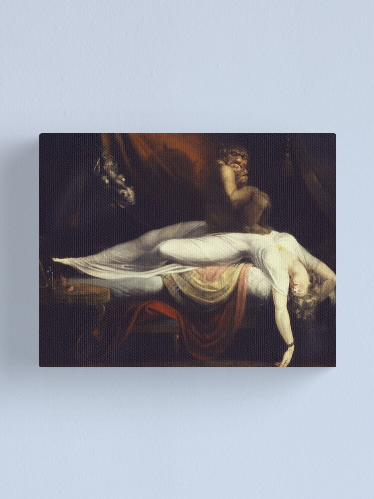 Alternate view of Henry Fuseli - The Nightmare1781 Canvas Print
