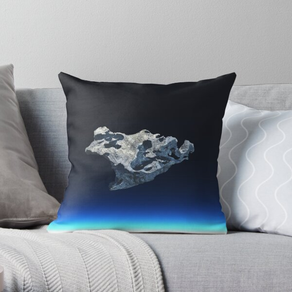 meteorite in space Throw Pillow