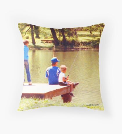 Sumertime is for fishing Throw Pillow