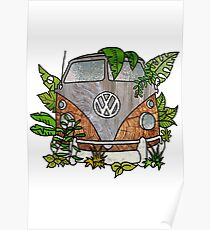 vw split screen camper  Poster