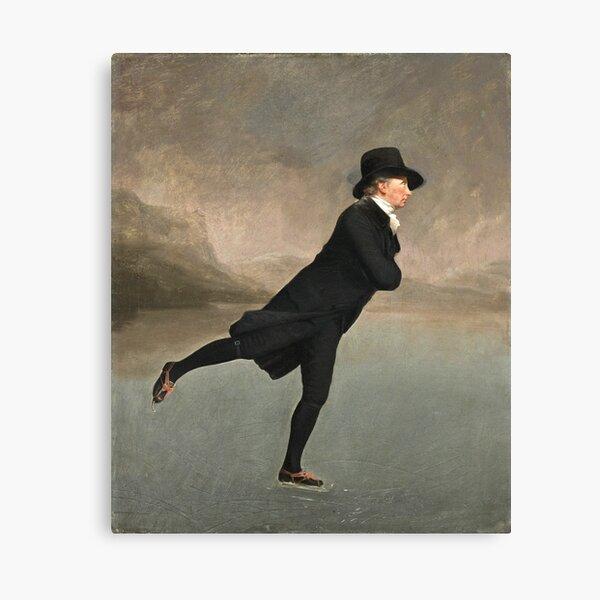 Henry Raeburn - Reverend Dr Robert Walker (1755 - 1808) Skating On Duddingston Loch Canvas Print