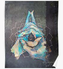 Ascension - crown 'blue hand' chakra mudra Poster