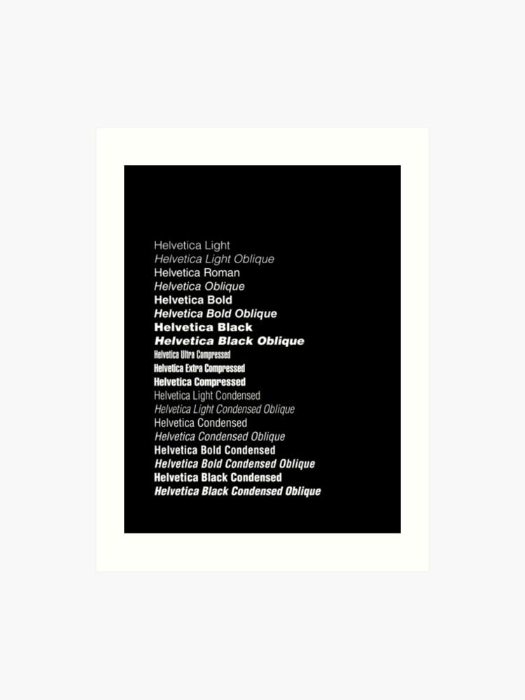 Helvetica | Art Print