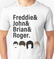 Queen, Freddie & John & Brian & Roger hair T-Shirt