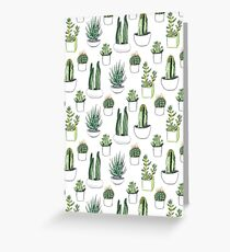 watercolour cacti and succulents Greeting Card