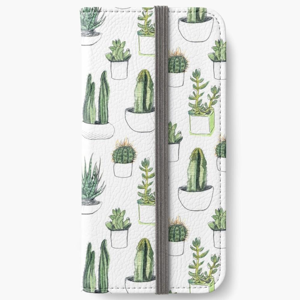 Watercolour cacti & succulents iPhone Wallet