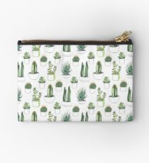 Watercolour cacti & succulents Studio Pouch