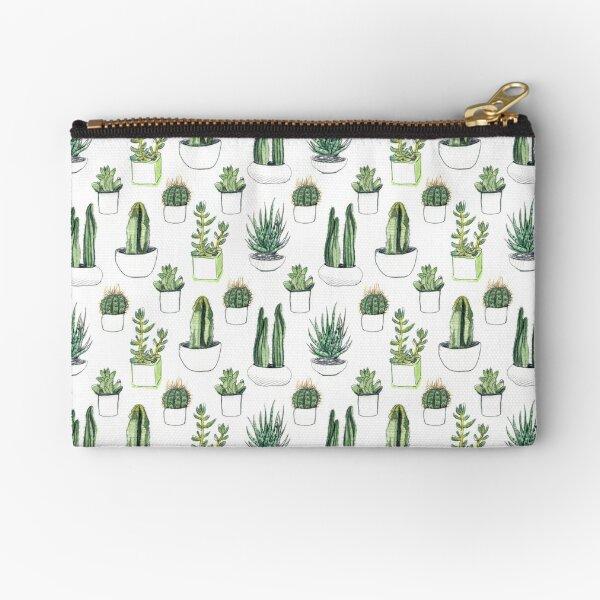 Watercolour cacti & succulents Zipper Pouch