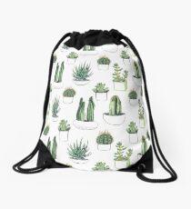 Watercolour cacti & succulents Drawstring Bag