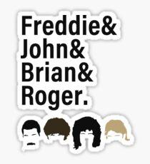 Queen, Freddie & John & Brian & Roger hair Sticker