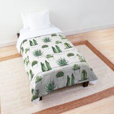 Watercolour cacti & succulents Comforter