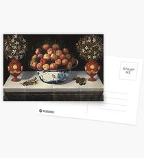 Hiepes, Tomas - Delft Fruit Bowl And Two Vases Of Flowers Postcards