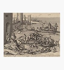 Hieronymus Bosch - Saint Martin With His Horse In A Ship1605 Photographic Print