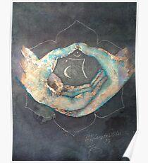 Svadhisthana - sacral 'blue hand' chakra mudra Poster