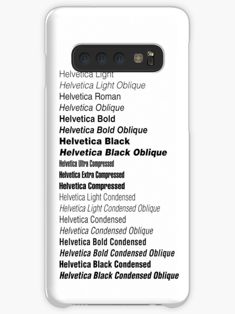 'Helvetica' Case/Skin for Samsung Galaxy by Archibald Kness