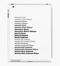 Helvetica iPad Case/Skin