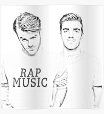 The Chainsmokers illustration Poster