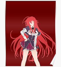 Highschool DxD Rias Gremory Minimalistic Poster
