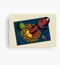Retro Rocketship Canvas Print