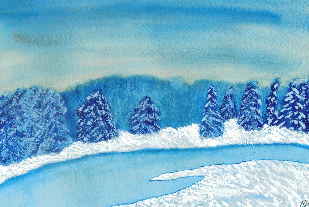Winter on the Pond by jillpedersen