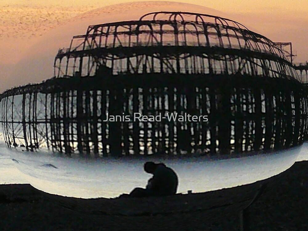 brighton pier-fisheyed by Janis Read-Walters