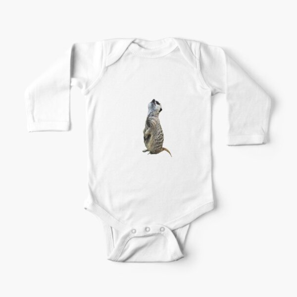 Meercat Stripes Long Sleeve Baby One-Piece