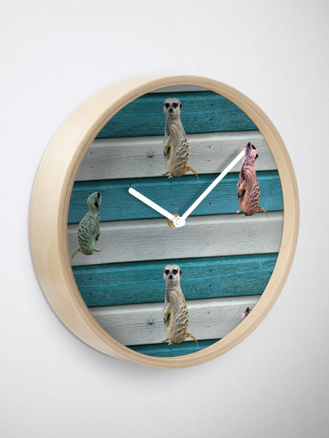 Alternate view of Meercat Stripes Clock