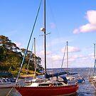Boats near Crammond Island by Verity Barnes