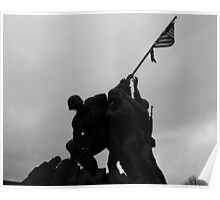 Iwo Jima in the shadows Poster