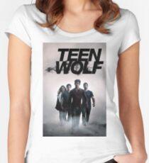 logo teen wolf Women's Fitted Scoop T-Shirt