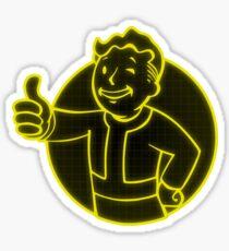 Yellow Vault Boy Sticker