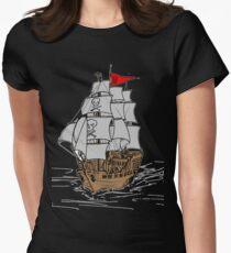 Pirate Ship Women's Fitted T-Shirt