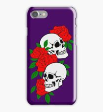 skulls and roses  iPhone Case/Skin